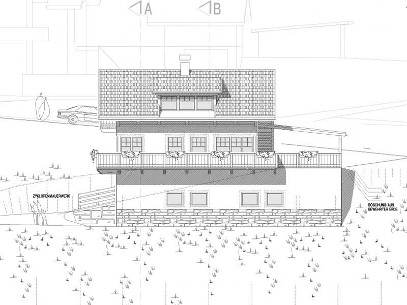 Neubau wohnhaus und landwirtschaftliche garage f r familie for Bauplan wohnhaus