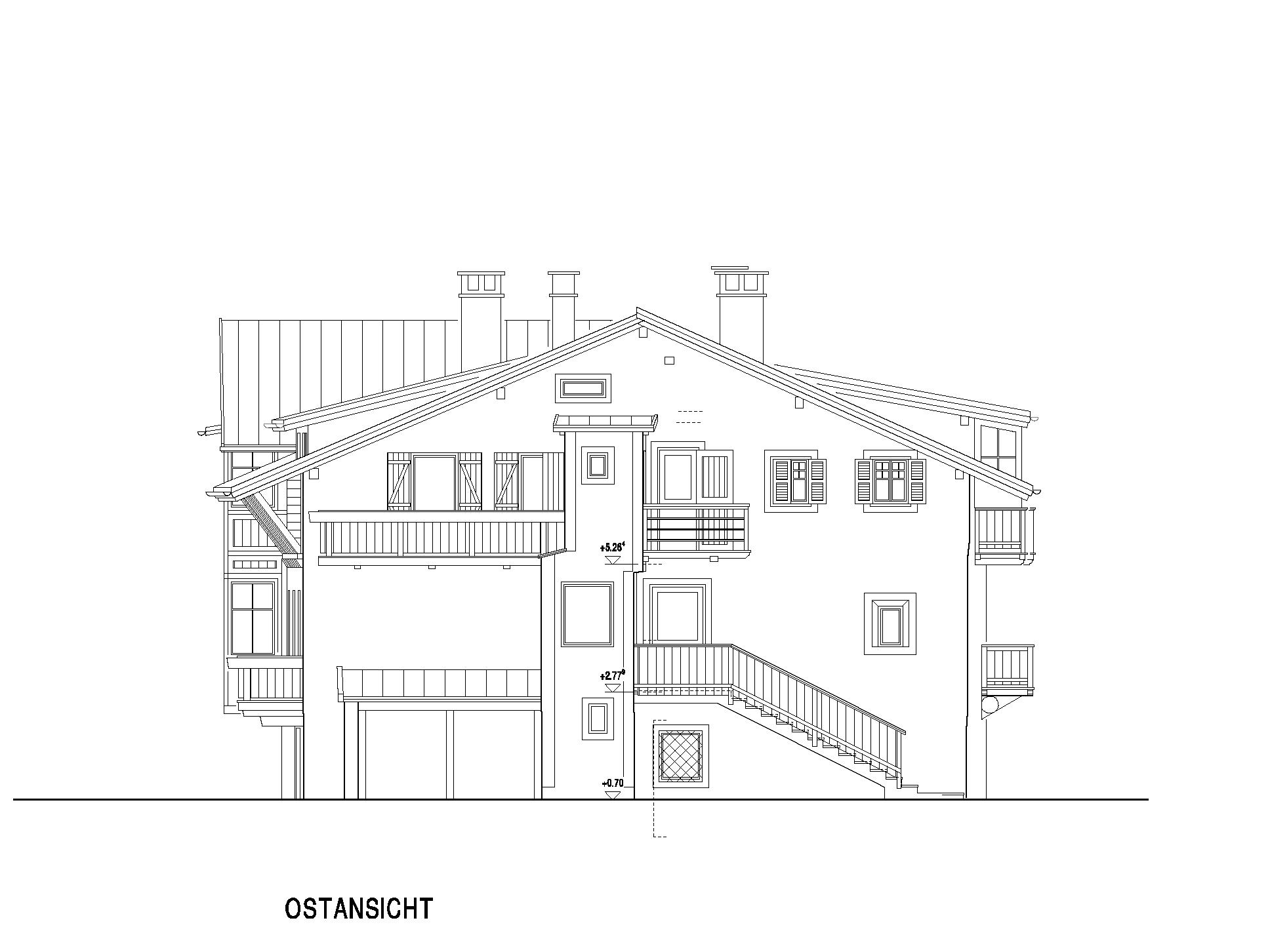 Wohnhaus f niederdorf bauplan messen planen for Bauplan wohnhaus