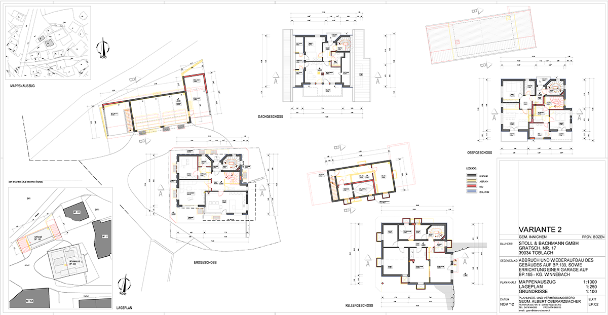 Abbruch und wiederaufbau wohnhaus mit garage f r familie b for Bauplan wohnhaus