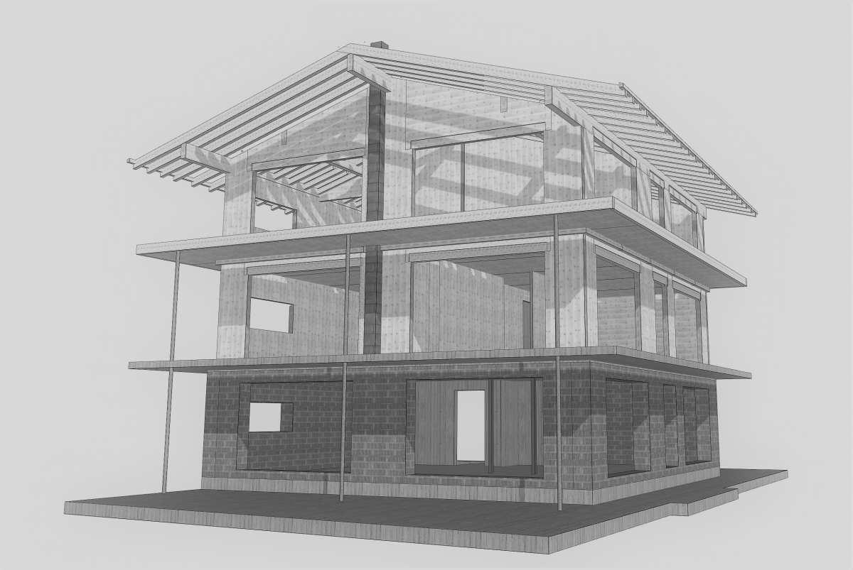 Wohnhaus strasser winnebach innichen bauplan for Bauplan wohnhaus